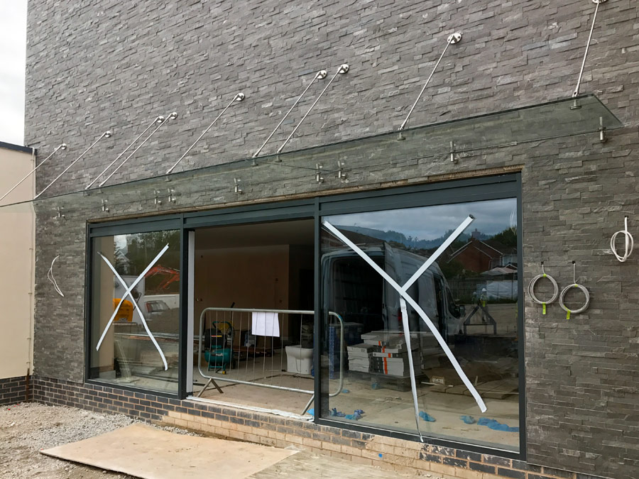 Structural Glass Canopy Systems : Glazed canopies canopy yorkshire nationwide